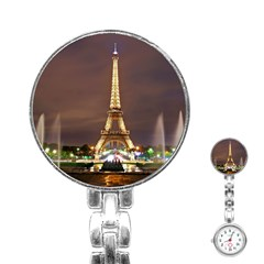 Paris Eiffel Tower Stainless Steel Nurses Watch