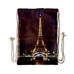 Paris Eiffel Tower Drawstring Bag (small) by Nexatart