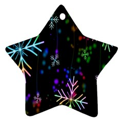 Nowflakes Snow Winter Christmas Ornament (star)