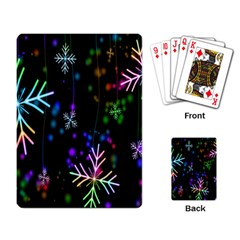 Nowflakes Snow Winter Christmas Playing Card
