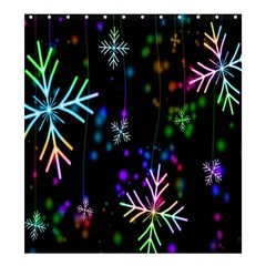 Nowflakes Snow Winter Christmas Shower Curtain 66  X 72  (large)  by Nexatart