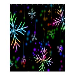 Nowflakes Snow Winter Christmas Shower Curtain 60  X 72  (medium)  by Nexatart