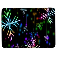 Nowflakes Snow Winter Christmas Samsung Galaxy Tab 7  P1000 Flip Case by Nexatart