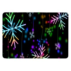 Nowflakes Snow Winter Christmas Samsung Galaxy Tab 8 9  P7300 Flip Case by Nexatart