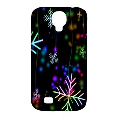 Nowflakes Snow Winter Christmas Samsung Galaxy S4 Classic Hardshell Case (pc+silicone) by Nexatart