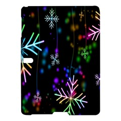 Nowflakes Snow Winter Christmas Samsung Galaxy Tab S (10 5 ) Hardshell Case  by Nexatart