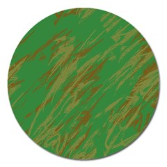 Brown Green Texture                                                  			magnet 5  (round) by LalyLauraFLM