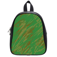 Brown Green Texture                                                  school Bag (small) by LalyLauraFLM