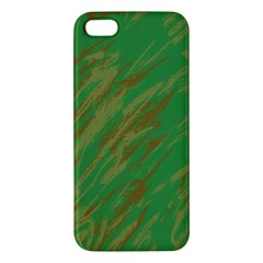 Brown Green Texture                                                 			apple Iphone 5 Premium Hardshell Case by LalyLauraFLM