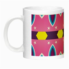 Ovals And Stars                                                    Night Luminous Mug by LalyLauraFLM