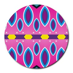 Ovals And Stars                                                    round Mousepad by LalyLauraFLM