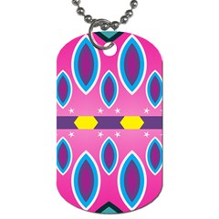 Ovals And Stars                                                    			dog Tag (one Side) by LalyLauraFLM