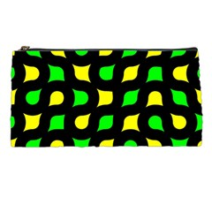 Yellow Green Shapes                                                     	pencil Case by LalyLauraFLM