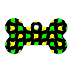 Yellow green shapes                                                     Dog Tag Bone (One Side)