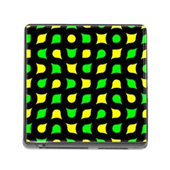 Yellow Green Shapes                                                     			memory Card Reader (square) by LalyLauraFLM