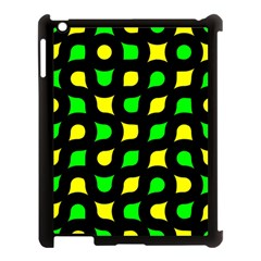 Yellow Green Shapes                                                    			apple Ipad 3/4 Case (black) by LalyLauraFLM