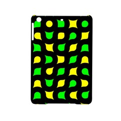 Yellow Green Shapes                                                    			apple Ipad Mini 2 Hardshell Case by LalyLauraFLM