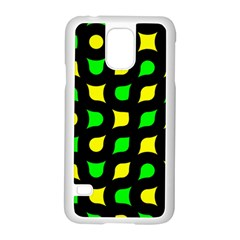Yellow Green Shapes                                                    			samsung Galaxy S5 Case (white) by LalyLauraFLM