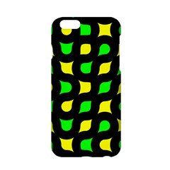 Yellow Green Shapes                                                    			apple Iphone 6/6s Hardshell Case by LalyLauraFLM
