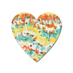 Retro Watercolors                                                      			magnet (heart) by LalyLauraFLM