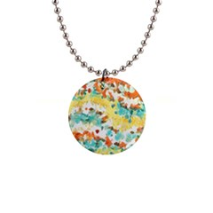 Retro Watercolors                                                      			1  Button Necklace by LalyLauraFLM