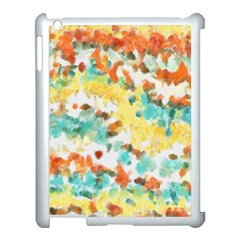 Retro Watercolors                                                     			apple Ipad 3/4 Case (white) by LalyLauraFLM