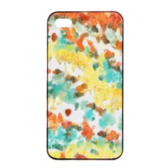 Retro Watercolors                                                     			apple Iphone 4/4s Seamless Case (black) by LalyLauraFLM
