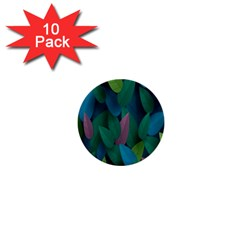 Leaf Rainbow 1  Mini Buttons (10 pack)