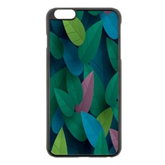 Leaf Rainbow Apple Iphone 6 Plus/6s Plus Black Enamel Case