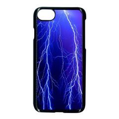 Lightning Electricity Elements Danger Night Lines Patterns Ultra Apple Iphone 7 Seamless Case (black) by Jojostore