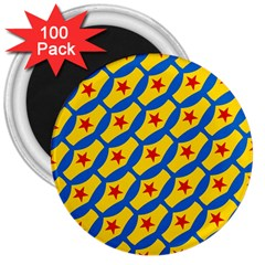 Images Album Heart Frame Star Yellow Blue Red 3  Magnets (100 Pack) by Jojostore