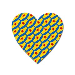 Images Album Heart Frame Star Yellow Blue Red Heart Magnet by Jojostore