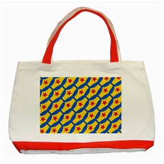 Images Album Heart Frame Star Yellow Blue Red Classic Tote Bag (red) by Jojostore