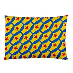 Images Album Heart Frame Star Yellow Blue Red Pillow Case by Jojostore