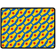 Images Album Heart Frame Star Yellow Blue Red Fleece Blanket (large)  by Jojostore