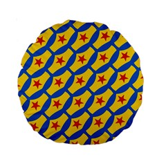 Images Album Heart Frame Star Yellow Blue Red Standard 15  Premium Round Cushions by Jojostore