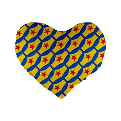 Images Album Heart Frame Star Yellow Blue Red Standard 16  Premium Heart Shape Cushions by Jojostore