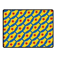 Images Album Heart Frame Star Yellow Blue Red Double Sided Fleece Blanket (small)  by Jojostore