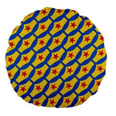Images Album Heart Frame Star Yellow Blue Red Large 18  Premium Flano Round Cushions by Jojostore