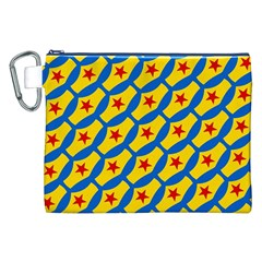 Images Album Heart Frame Star Yellow Blue Red Canvas Cosmetic Bag (xxl) by Jojostore