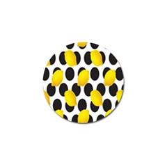 Orange Lime Fruit Yellow Hole Golf Ball Marker (10 Pack) by Jojostore
