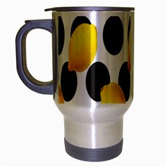 Orange Lime Fruit Yellow Hole Travel Mug (silver Gray) by Jojostore