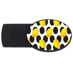 Orange Lime Fruit Yellow Hole Usb Flash Drive Oval (4 Gb) by Jojostore