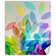 Leaf Rainbow Color Canvas 20  X 24   by Jojostore