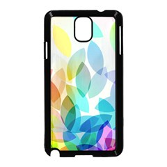 Leaf Rainbow Color Samsung Galaxy Note 3 Neo Hardshell Case (Black)