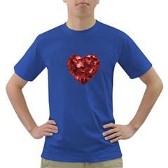 Floral Heart Shape Ornament Dark T Shirt by dflcprints