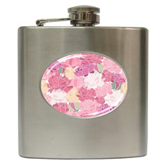 Peonies Flower Floral Roes Pink Flowering Hip Flask (6 Oz) by Jojostore