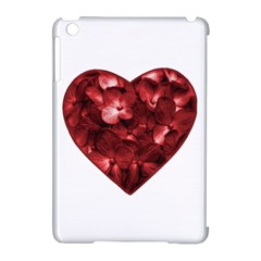 Floral Heart Shape Ornament Apple Ipad Mini Hardshell Case (compatible With Smart Cover) by dflcprints