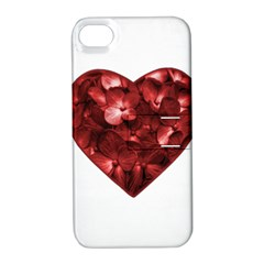 Floral Heart Shape Ornament Apple Iphone 4/4s Hardshell Case With Stand by dflcprints