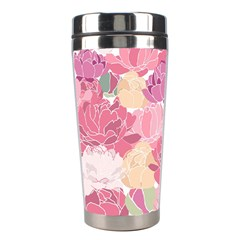Peonies Flower Floral Roes Pink Flowering Stainless Steel Travel Tumblers by Jojostore